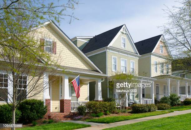victorian, cottage homes - residential district stock pictures, royalty-free photos & images