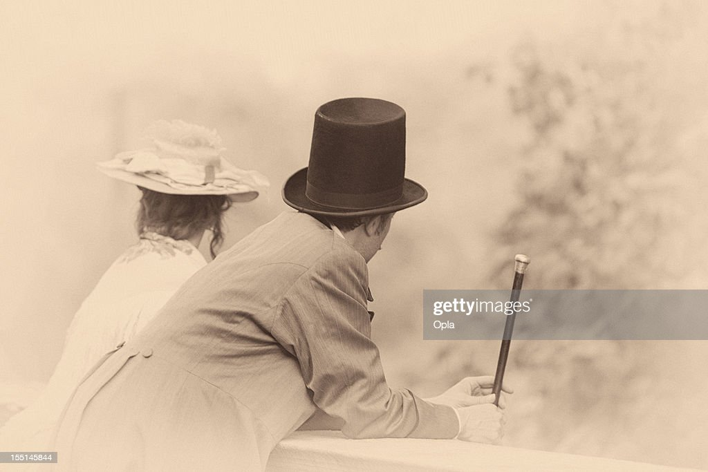 Victorian couple : Stock Photo