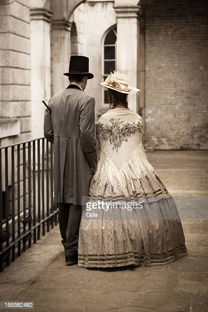 victorian couple - victorian style stock pictures, royalty-free photos & images