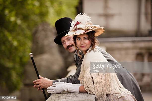 victorian couple - period costume stock pictures, royalty-free photos & images
