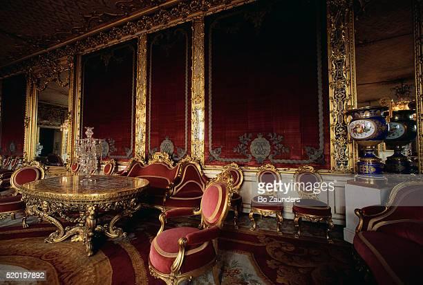 victorian drawing room at the royal palace - リッダーホルメン王宮 ストックフォトと画像