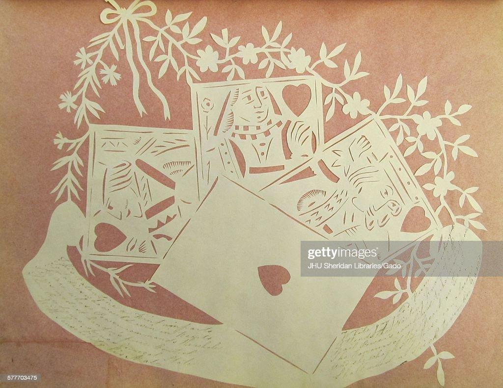 Victorian Hand Cut Valentine : News Photo
