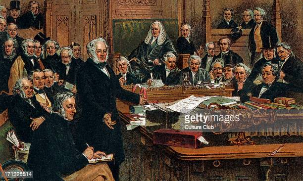 Victorian Era Lord Palmerston addressing the House of Commons in 1860