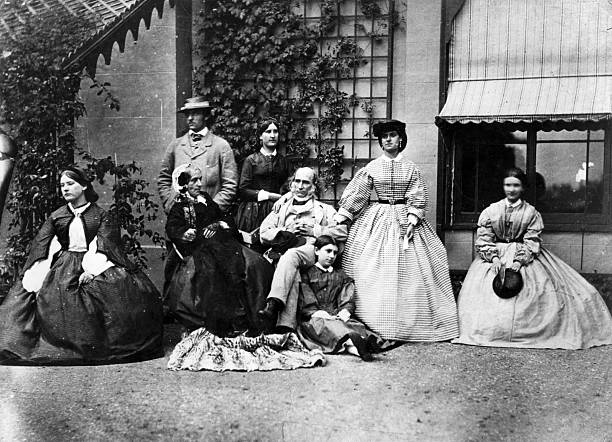 A Victorian family group.