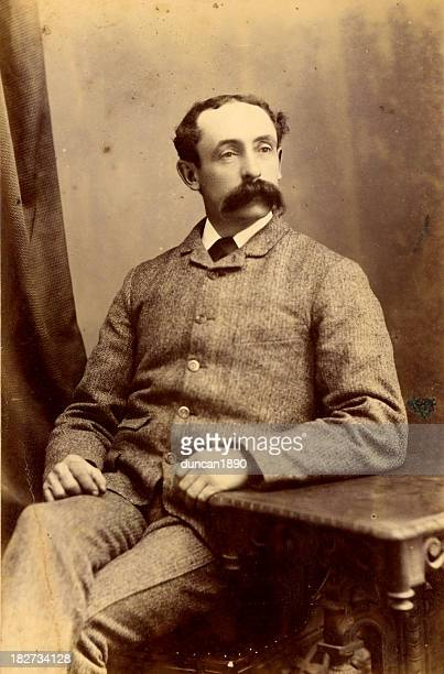 victorian gentleman vintage photograph - 19th century style stock pictures, royalty-free photos & images