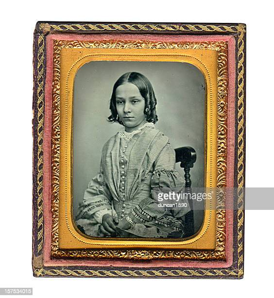 Victorian Girl - Old Ambrotype Photograph