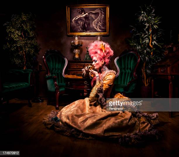 victorian gothic series - haute couture stock pictures, royalty-free photos & images