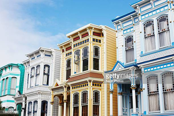 victorian home - mission district stock photos and pictures