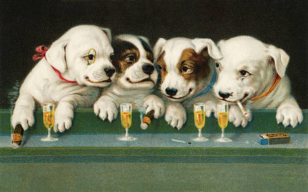 Puppies Drinking And Smoking