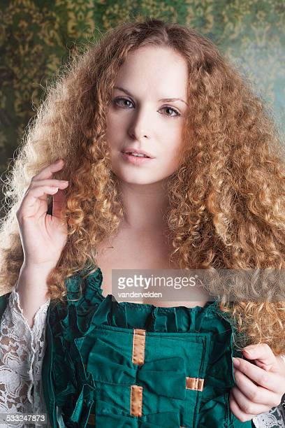 Victorian Lady With Long Curly Hair