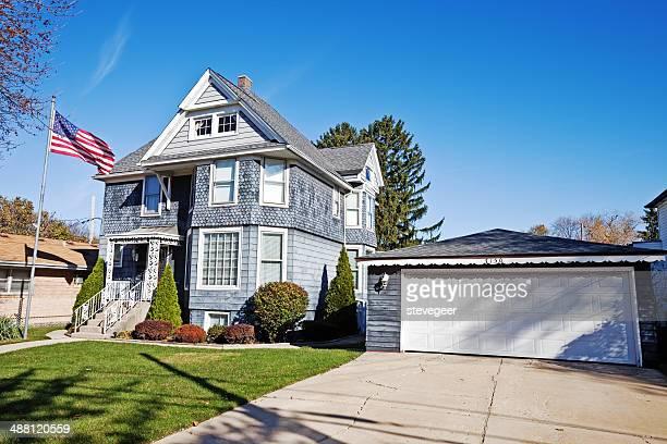 mansão vitoriana de norwood park, chicago - chicago illinois - fotografias e filmes do acervo