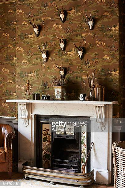 Victorian Marble fireplace and antiques