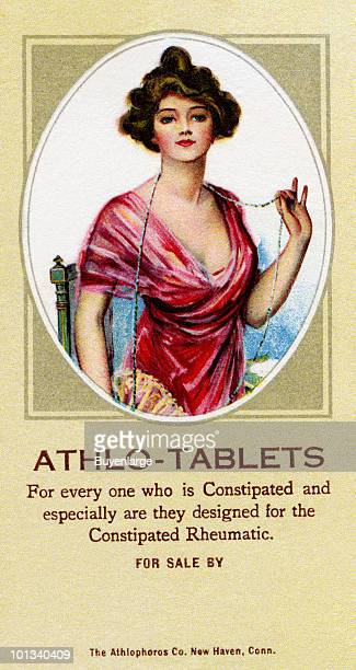 A Victorian medical trade card for 'AthloTablets' accompanied by the text 'For every one who is Constipated and especially are they designed for the...