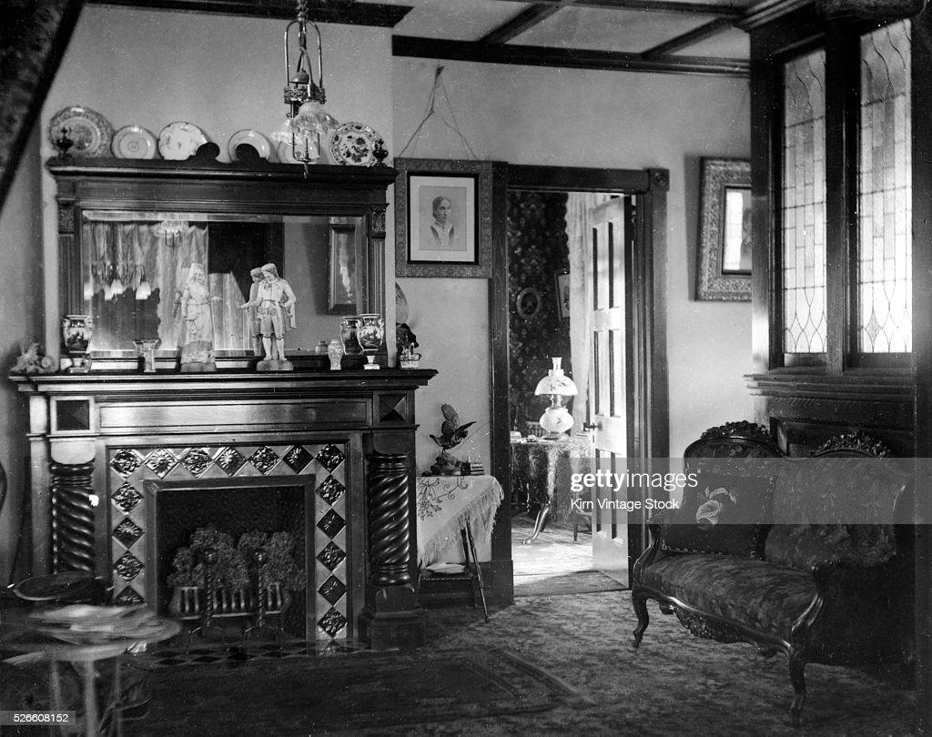 Victorian Parlor Room Still Life, Ca. 1900.