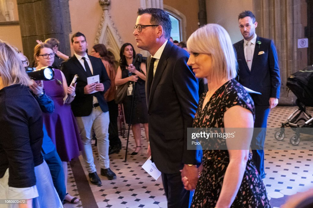Victorian Premier Daniel Andrews And His Wife Catherine Andrews Are News Photo Getty Images