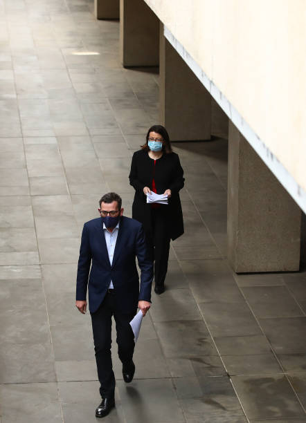 AUS: Victorian Premier Daniel Andrews Gives COVID-19 Update As Face Masks Become Mandatory Across Melbourne