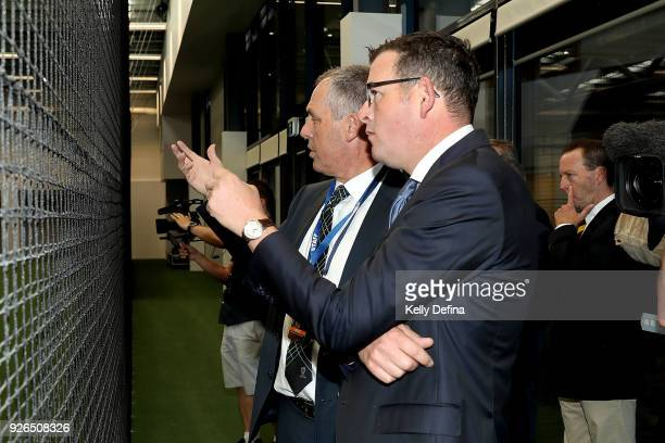 Victorian Premier Daniel Andrews and Tony Dodemaide Cricket Victoria Chief Executive tour the new unvieled State Cricket Centre facilities ahead of...