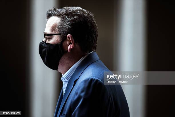 Victorian Premier Daniel Andrews arrives at the daily briefing on August 12, 2020 in Melbourne, Australia. Victoria has recorded 410 new coronavirus...