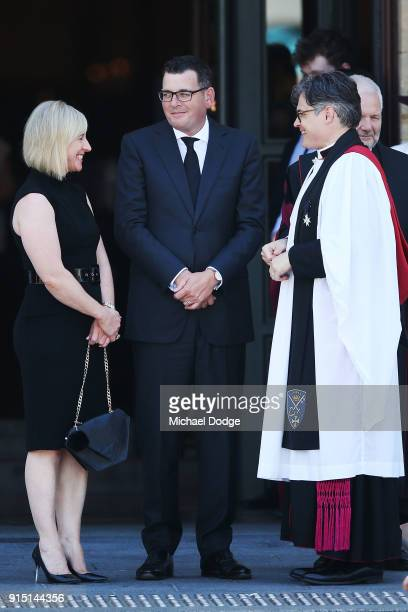 Victorian Premier Daniel Andrews attends the State Funeral Service for Ronald Walker at St Paul's Cathedral on February 7 2018 in Melbourne Australia
