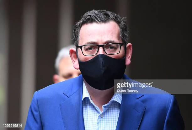 Victorian Premier Daniel Andrews enters the press conference on July 27, 2020 in Melbourne, Australia. Victoria has recorded 532 new cases of...
