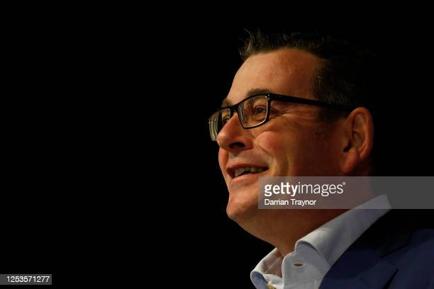 Victorian premier Daniel Andrews speaks to the media on July 01, 2020 in Melbourne, Australia. Victorian premier Daniel Andrews on Tuesday announced...