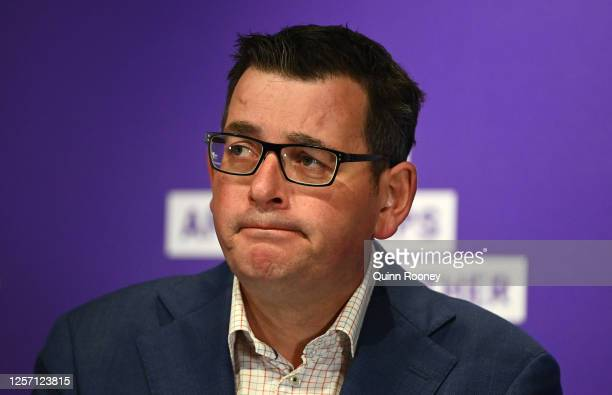 Victorian Premier Daniel Andrews speaks to the media on July 20, 2020 in Melbourne, Australia. Victoria has recorded 275 new cases of coronavirus,...