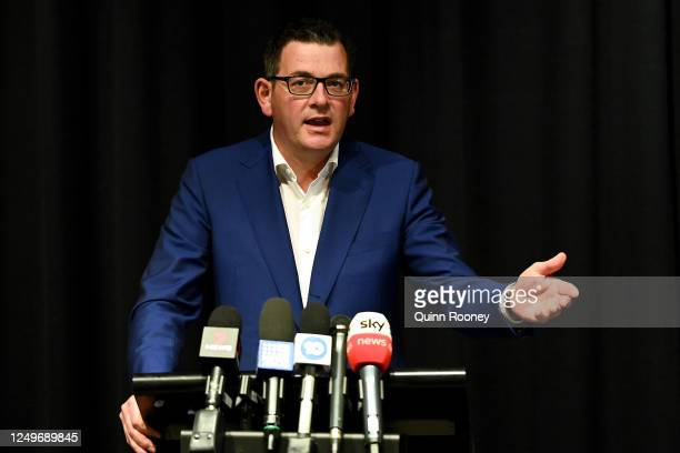 Victorian Premier Daniel Andrews speaks to the media on June 15, 2020 in Melbourne, Australia. Victorian Labor MP Adem Somyurek resigned this morning...