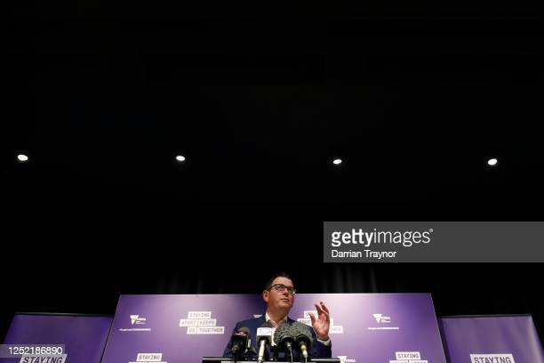 Victorian Premier Daniel Andrews speaks to the media on June 25, 2020 in Melbourne, Australia. Victorian Premier Daniel Andrews has requested support...