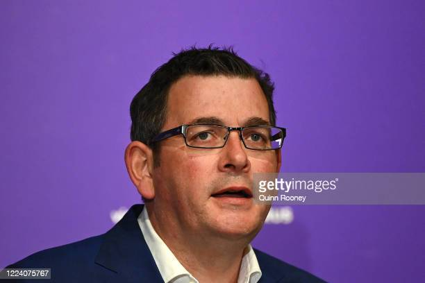 Victorian premier Daniel Andrews speaks to the media on May 11, 2020 in Melbourne, Australia. Premier Daniel Andrews has announced some easing of...