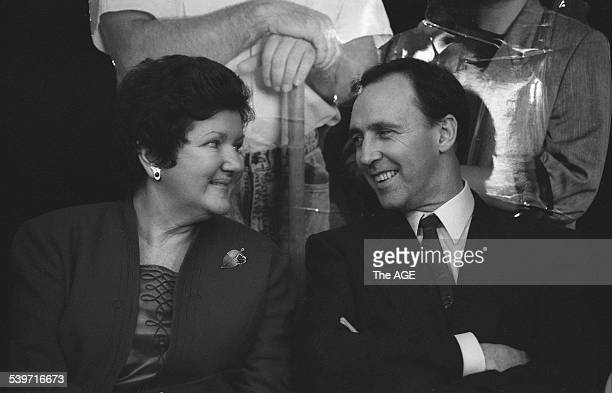 Victorian Premier Joan Kirner and the Prime Minister Paul Keating at the launch of the 'Life Be In It' initiative to provide employment 23 June 1992...