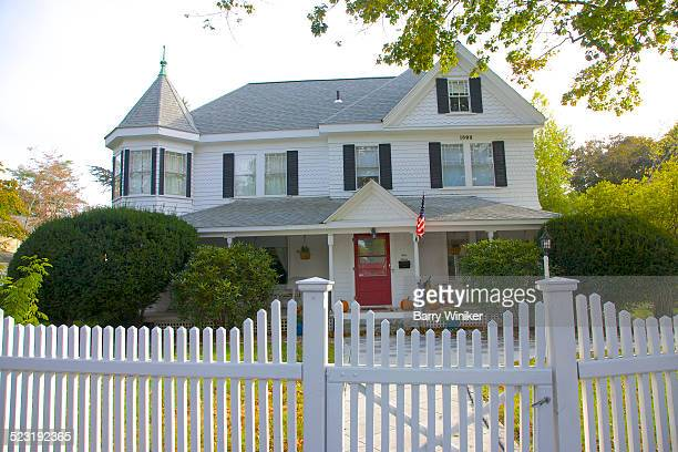 White Picket Fence American Dream Stock Photos And Pictures