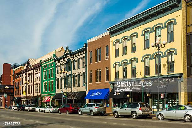 victorian square shoppes and other architecture in lexington - lexington kentucky stock pictures, royalty-free photos & images