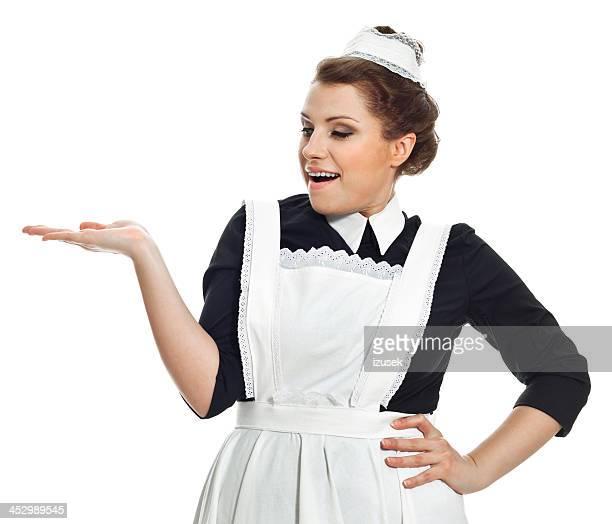 viktorianischen stil maid - izusek stock-fotos und bilder