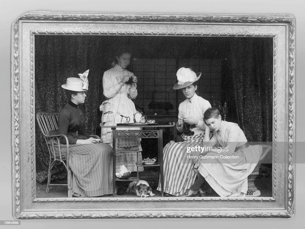 A Victorian Tea Party Circa 1895 News Photo
