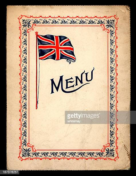 Victorian/Edwardian menu card