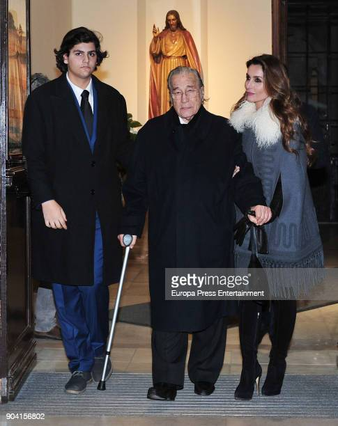 Victoriano Valencia and Paloma Cuevas attend the funeral mass for Carmen Franco daughter of the dictator Francisco Franco at the Francisco de Borja...