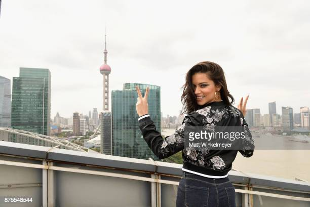 Victoria's Secret Angel Adriana Lima arrives in Shanghai for the Victoria's Secret Fashion Show at Mandarin Oriental Hotel on November 18 2017 in...