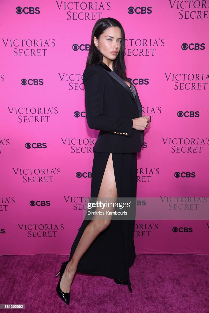 Victoria's Secret Angel Adriana Lima attends as Victoria's Secret Angels gather for an intimate viewing party of the 2017 Victoria's Secret Fashion Show at Spring Studios on November 28, 2017 in New York City.