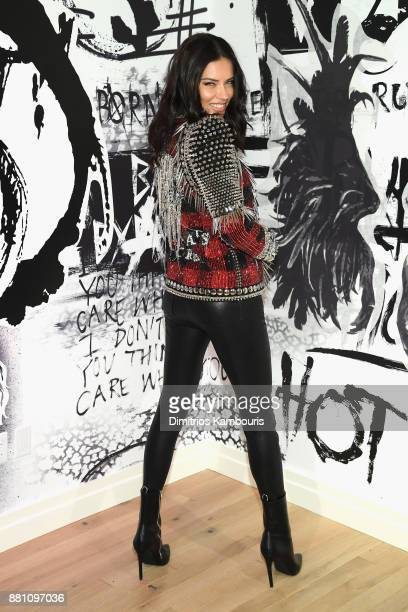 Victoria's Secret Angel Adriana Lima shares her favorite VS x BALMAIN looks from the runway and hottest holiday gifts at Victoria's Secret Fifth Ave...