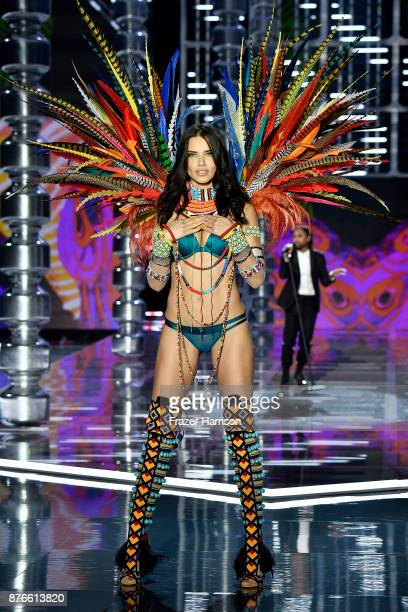 Victoria's Secret Angel Adriana Lima walks the runway during the 2017 Victoria's Secret Fashion Show In Shanghai at Mercedes-Benz Arena on November...