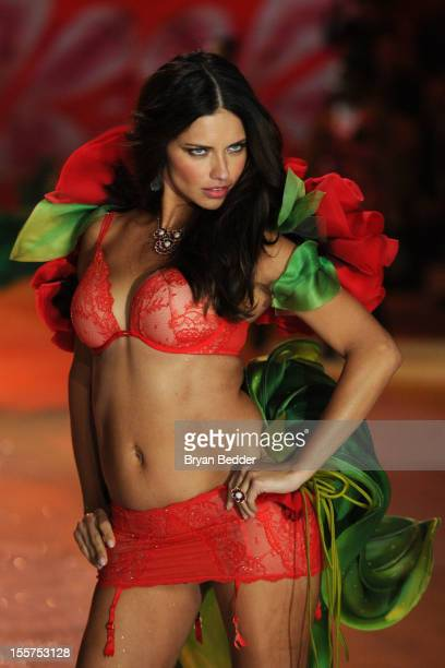 Victoria's Secret Angel Adriana Lima walks the runway during the Victoria's Secret 2012 Fashion Show on November 7 2012 in New York City
