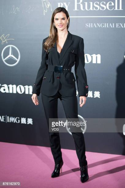 Victoria's Secret Angel Alessandra Ambrosio arrives at the red carpet of the MercedesBenz 'Backstage Secrets' By Russell James Book Launch Shanghai...