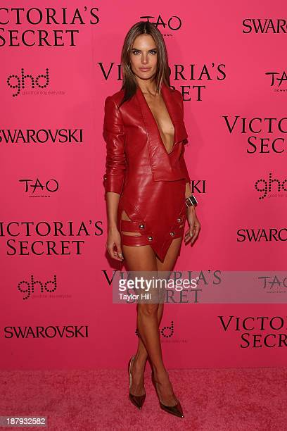 Victoria's Secret Angel Alessandra Ambrosio attends the after party for the 2013 Victoria's Secret Fashion Show at TAO Downtown on November 13 2013...