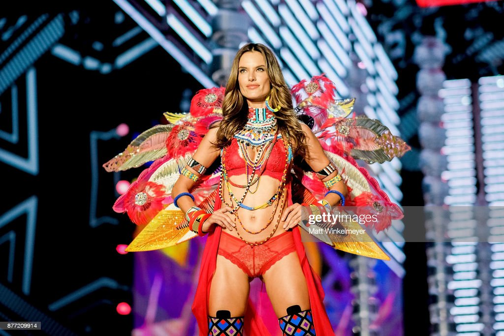 Victoria's Secret Angel Alessandra Ambrosio walks the runway during the 2017 Victoria's Secret Fashion Show In Shanghai at Mercedes-Benz Arena on November 20, 2017 in Shanghai, China.