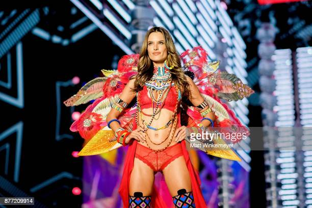 Victoria's Secret Angel Alessandra Ambrosio walks the runway during the 2017 Victoria's Secret Fashion Show In Shanghai at Mercedes-Benz Arena on...