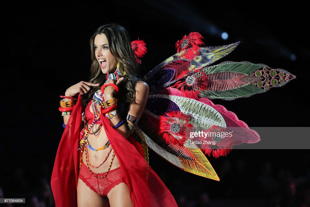 Victoria's Secret Angel Alessandra Ambrosio walks the runway for Swarovski Sparkles In the 2017 Victoria's Secret Fashion Show at Mercedes-Benz Arena on November 20, 2017 in Shanghai, China.