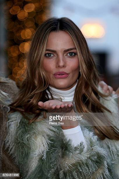 Victoria's Secret Angel Barbara Fialho is seen next to her hotel on November 29 2016 in Paris France