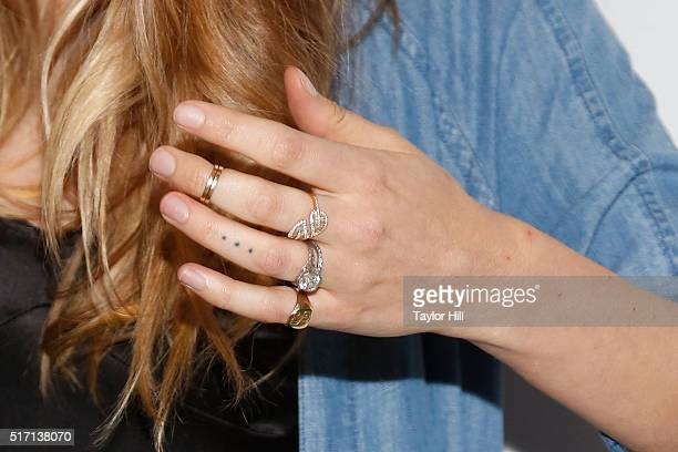 Victoria's Secret Angel Behati Prinsloo ring detail tattoo detail celebrates the launch of Behati Juicy Couture Black Label at Dream Downtown on...