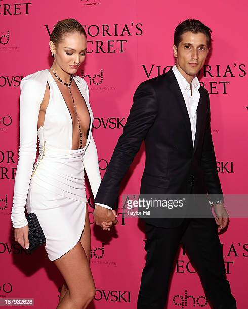 Victoria's Secret Angel Candice Swanepoel and model Hermann Nicoli attend the after party for the 2013 Victoria's Secret Fashion Show at TAO Downtown...