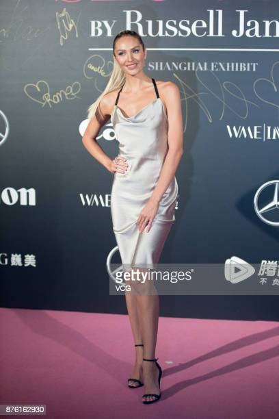 Victoria's Secret Angel Candice Swanepoel arrives at the red carpet of the MercedesBenz 'Backstage Secrets' By Russell James Book Launch Shanghai...